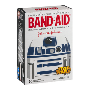 Band-Aid Brand Adhesive Bandages Star Wars Assorted Sizes - 20 CT