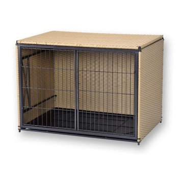 Mr. Herzher's Side Load Pet Residence, MED BROWN