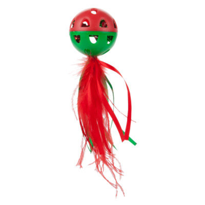 Whisker CityA Feather Ball Holiday Cat Toy