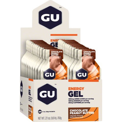 GU Energy Labs Gel Chocolate Peanut Butter 24 Packets