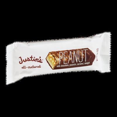 Justin's Peanut Milk Chocolate, Peanuts, Caramel, Nougat Bar