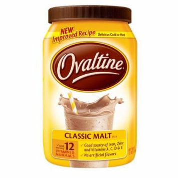 Nestlé Ovaltine Classic Malt Beverage, 12-ounce Canisters Tubs (Pack of 3)