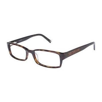 TOMMY BAHAMA Eyeglasses TB166 002 Brown Wood 53MM