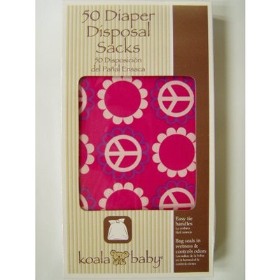 Unknown Koala Baby Peace Sign Pink 50 Diaper Disposable Sacks