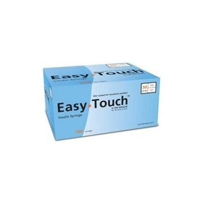 Easytouch U-100 Insulin Syringe For 30 Units Or Less 30 Guage 3 Cc