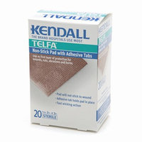 Kendall Telfa Non-stick Pad with Adhesive Tabs