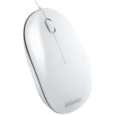 iHome USB Mouse for Macs, White IMAC-M100W
