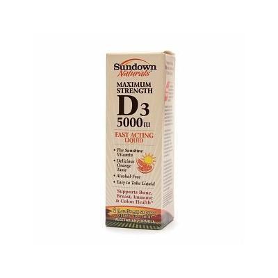 Sundown Naturals Vitamin D3 5000IU, Orange 2 fl oz (59 ml)