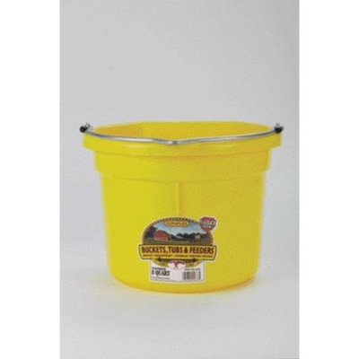 Miller Mfg Inc Miller Mfg Co Inc Flat Back Plastic Bucket- Yellow 8 Quart - P8FBYELLOW