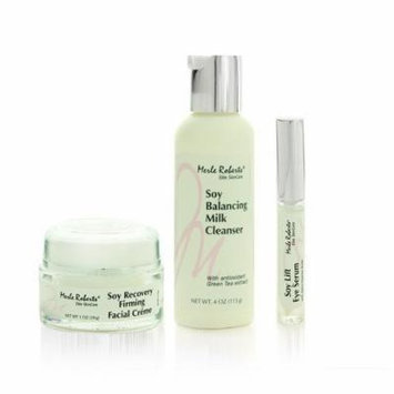 Merle Roberts 3 Piece Soy Facial Kit - Milk Cleanser, Firming Creme, and Eye Lift Serum. Moisturize, cleanse and fight wrinkles! Great gift set.