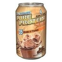WorldWide WWSDSHAK0012CHOCLQ Pure Protein Shake Chocolate 12 ct 11oz