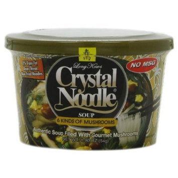 Crystal Noodle 6 Kinds of Mushrooms, 1.9-Ounce Cup (Pack of 6)
