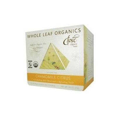 Choice Organic Teas Chamomile Citrus Whole Leaf Tea - 15 Tea Pyramids