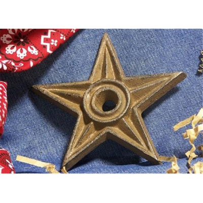 IWGAC 0170S-02106 Cast Iron Star - Center Hole Large Set of 6