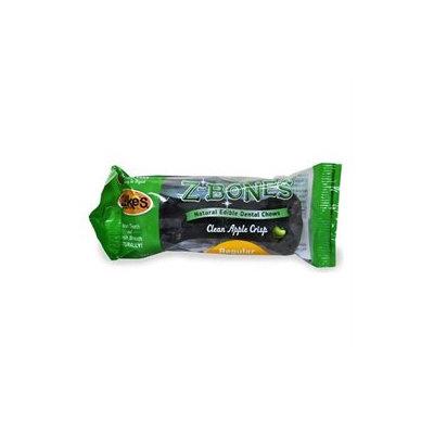 Zukes Z-Bones Natural Edible Dental Chews - Clean Apple Crisp: Regular