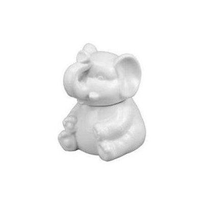 Harold Import Company Harold Import - Porcelain Elephant Sugar Bowl White