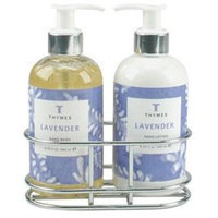 Thymes Lavender - Sink Set With Caddy (8.25 oz each)
