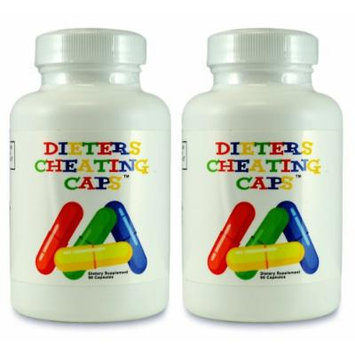 Dieters Cheating Caps 2 Pack - Carb Fat Blocker - Weight Loss Diet Pill