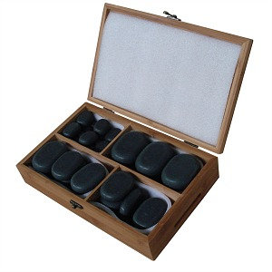 Sivan Health And Fitness Basalt Lava Hot Stone Massage Kit