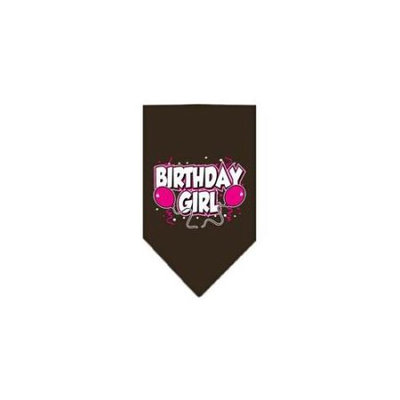 Ahi Birthday Girl Screen Print Bandana Cocoa Large