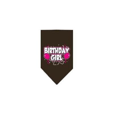 Ahi Birthday Girl Screen Print Bandana Cocoa Large