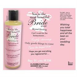Not Soap Radio Say It with Suds Greeting Message Shower Gel - Bride