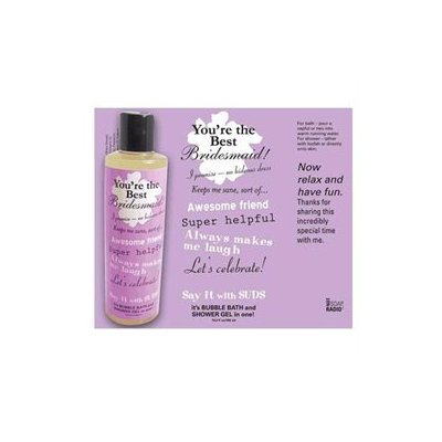 Not Soap Radio Say It with Suds Greeting Message Shower Gel - Bridesmaid