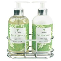 Thymes Eucalyptus - Sink Set With Caddy (8.25 oz each)