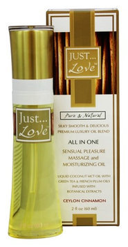 Just Pure Essentials - JUST Love All In One Sensual Pleasure Massage and Moisturizing Oil Ceylon Cinnamon - 2 oz.