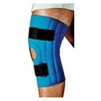 Sportaid Knee Supports Sportaid, Knee Brace, Open Patella, Blue Neoprene, Large, 15-17