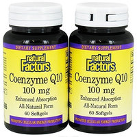 Natural Factors Coenzyme Q10 100mg Bonus Pack 120 Softgel