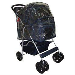 BestPet Classic 4 Wheel Navy Blue Pet Stroller