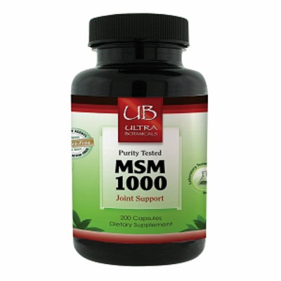 Ultra Botanicals - MSM Joint Support Vegetarian 1000 mg. - 200 Vegetarian Capsules