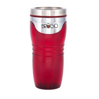 BRUGO 2nd Generation Leakproof Travel Mug with Built-in Temperature Control Chamber, Ruby Red