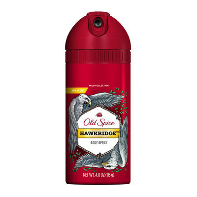 Old Spice Wild Collection Hawkridge Scent Men's Body Spray 4 Oz