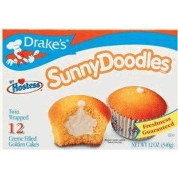 Drakes Drake's Sunny Doodles Creme Filled Golden Cakes, 12ct
