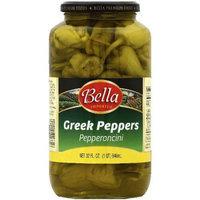 Bella Greek Peppers Pepperoncini, 32 fl oz, (Pack of 6)