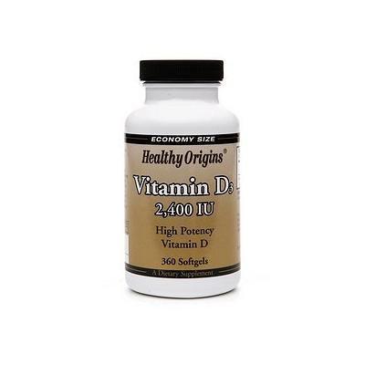 Healthy Origins Vitamin D3, 2400 IU, Softgels 360 ea