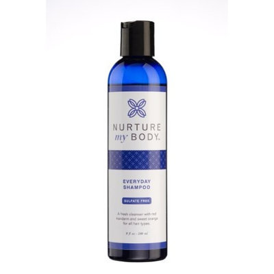 Organic Everyday Shampoo by Nurture My Body - 100% Organic - SLS Free - For All Hair Types - Color Safe - Satisfaction GUARANTEED!