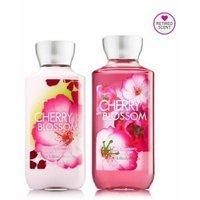 Bath and Body Works Signature Classics Pleasures Collection Body Lotion and Shower Gel Gift Set Men or Women (Cherry Blossom)