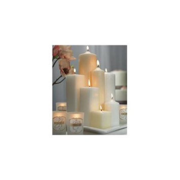 Weddingstar 1028-08 9 H x 3 Dia Round Pillar Candle- White