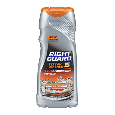 Right Guard Total Defense 5 Power Scrub Body Wash