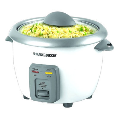 Black & Decker 6-Cup Rice Cooker and Steamer Model RC3406
