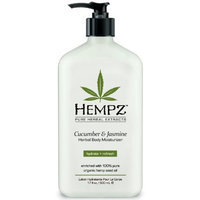 Hempz Pure Herbal Extracts, Cucumber and Jasmine, 17-Ounce Bottle