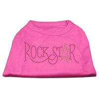 Mirage Pet Products 5273 XXLBPK RockStar Rhinestone Shirts Bright Pink XXL 18