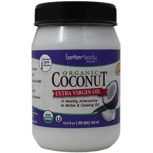 BetterBody Foods Nutrition BetterBody Foods Organic Extra Virgin Coconut Oil,15.5 Ounce [Extra-Virgin, 15.5 Ounce] [{