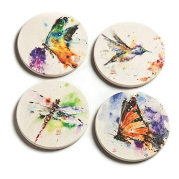 Big Sky Carvers Nature Coasters, Set of 4 3005050286 Big Sky Carvers Dean Crouser Collection