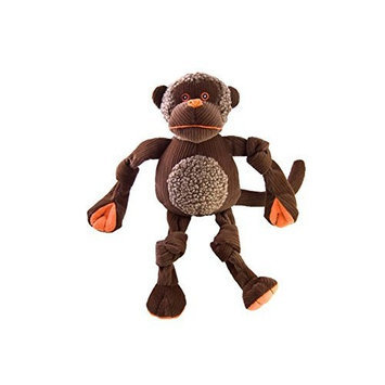 HuggleHounds Tuffut Chimp Dog Toy - Large
