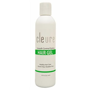 Cleure Natural Hypoallergenic Hair Styling Gel - For Healthy, Manageable, Easy to Style Hair 8 Oz
