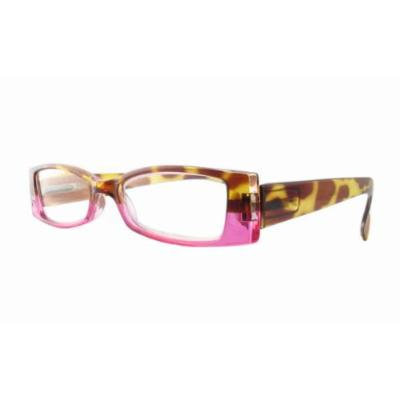 Calabria 4371 Bi-Color Reading Glasses w/ Case in Tortoise-Pink +4